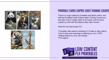 Printable Cards Empire Video Training Course 1