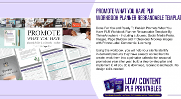 Promote What You Have PLR Workbook Planner Rebrandable Template