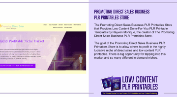 Promoting Direct Sales Business PLR Printables Store