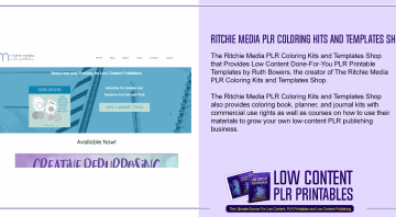 Ritchie Media PLR Coloring Kits and Templates Shop
