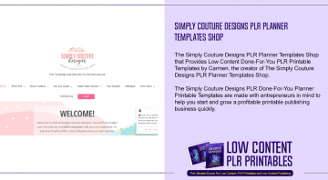 Simply Couture Designs PLR Planner Templates Shop