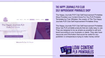 The Happy Journals PLR Club Self Improvement Printables Shop