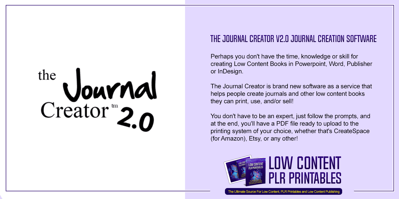 The Journal Creator V2.0 Journal Creation Software