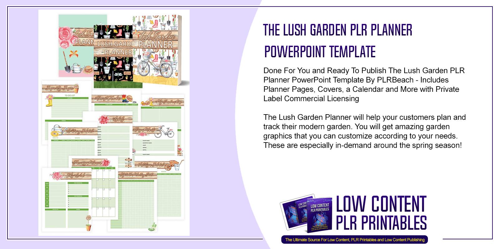The Lush Garden PLR Planner PowerPoint Template
