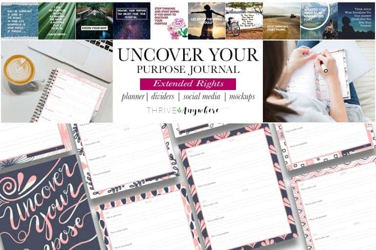 Uncover Your Purpose PLR Journal
