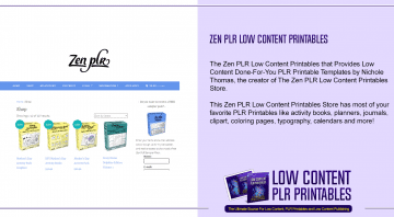 Zen PLR Low Content Printables