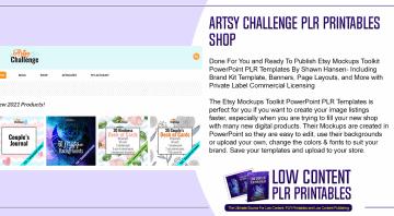 Artsy Challenge PLR Printables Shop