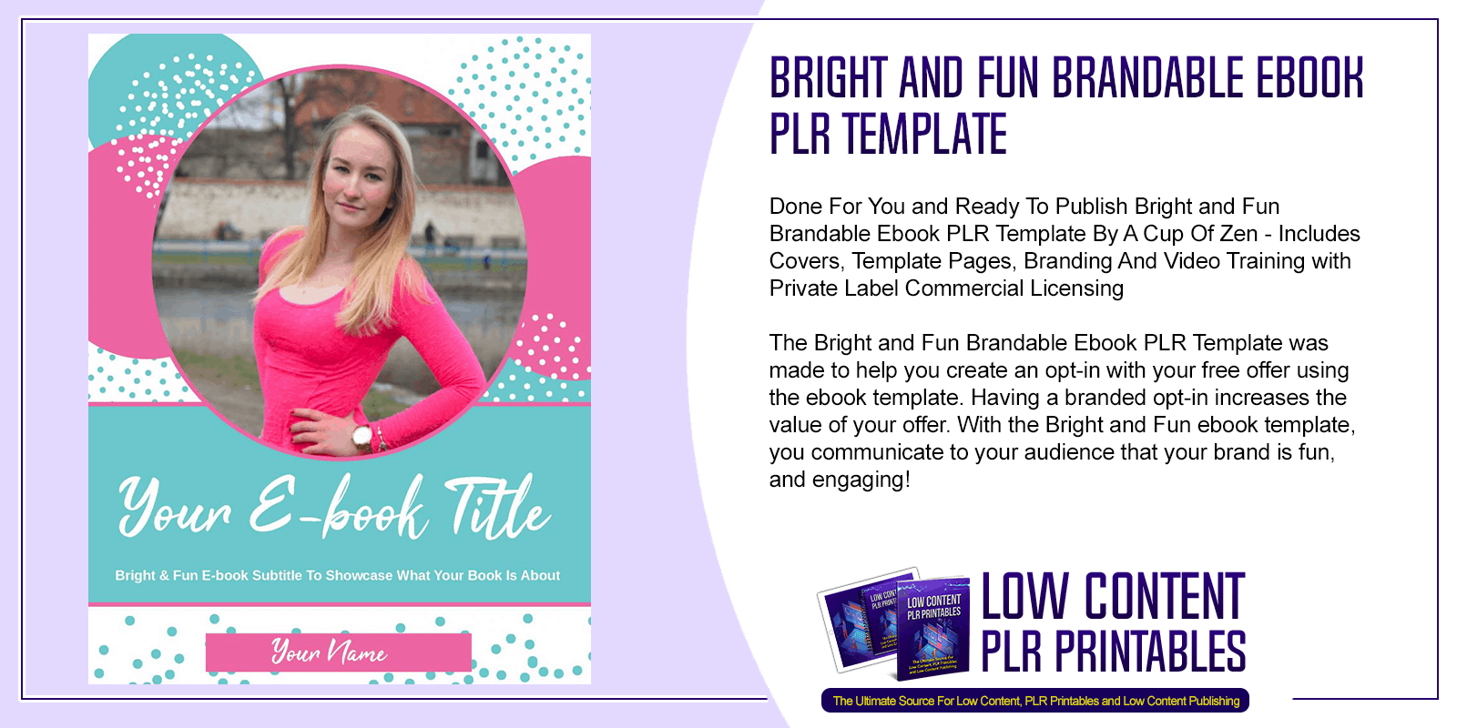 Bright and Fun Brandable Ebook PLR Template
