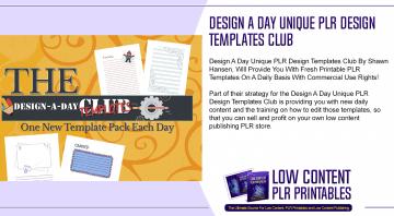 Design A Day Unique PLR Design Templates Club