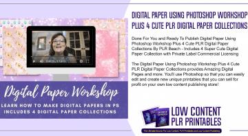 Digital Paper Using Photoshop Workshop Plus 4 Cute PLR Digital Paper Collections