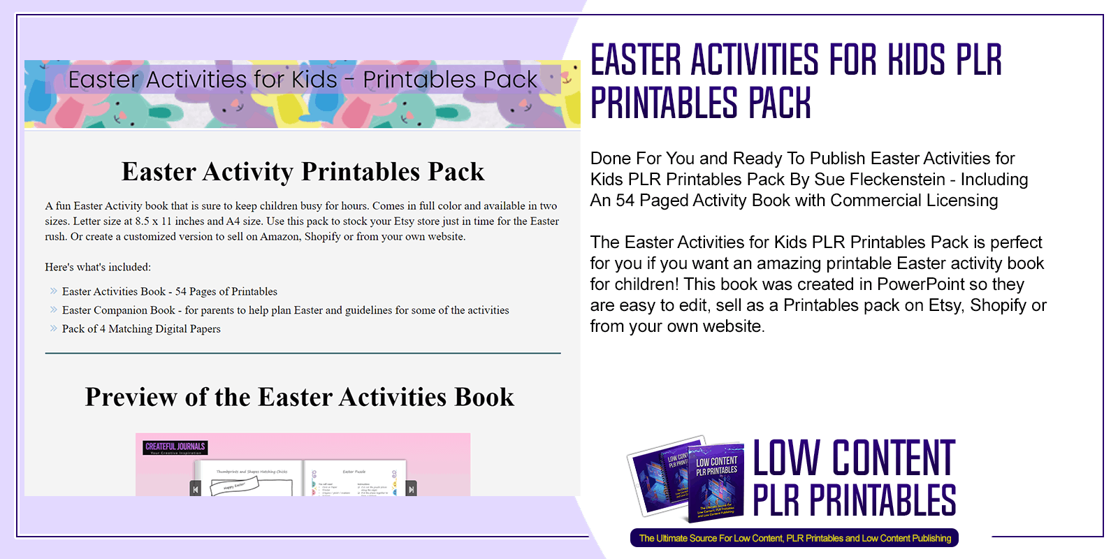 Easter Activities for Kids PLR Printables Pack