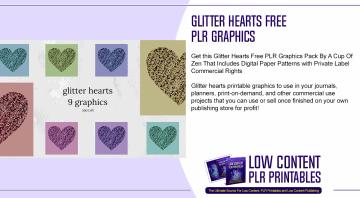 Glitter Hearts Free PLR Graphics