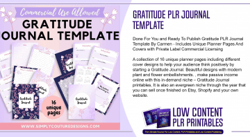 Gratitude PLR Journal Template
