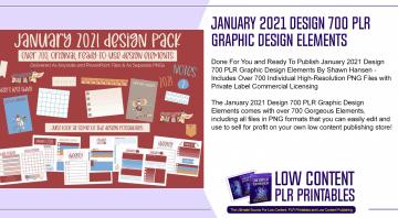 January 2021 Design 700 PLR Graphic Design Elements