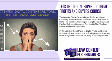 Lets Get Digital Paper to Digital Profits and Buyers Course