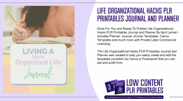 Life Organizational Hacks PLR Printables Journal and Planner