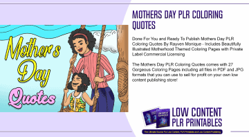 Mothers Day PLR Coloring Quotes