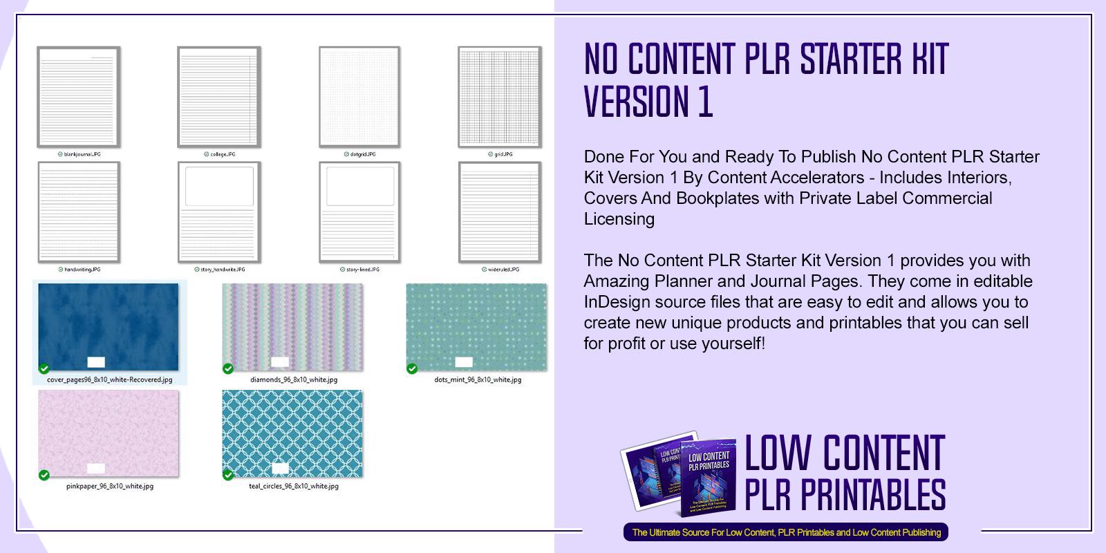 No Content PLR Starter Kit Version 1