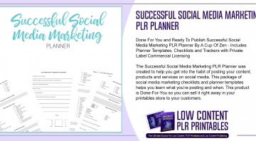Successful Social Media Marketing PLR Planner