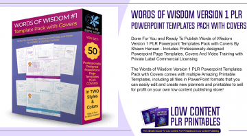 Words of Wisdom Version 1 PLR Powerpoint Templates Pack with Covers