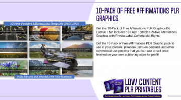 10 Pack of Free Affirmations PLR Graphics