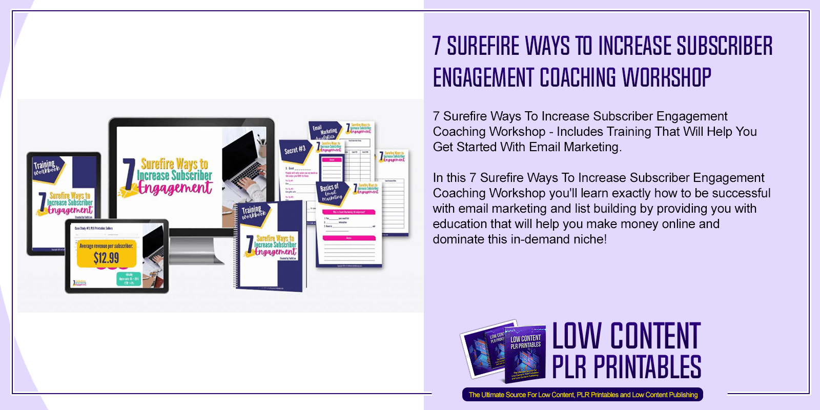 7 Surefire Ways To Increase Subscriber Engagement Coaching Workshop