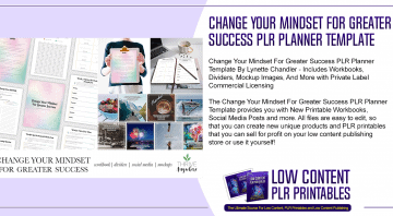 Change Your Mindset For Greater Success PLR Planner Template