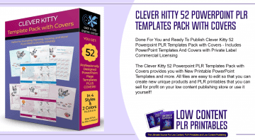 Clever Kitty 52 Powerpoint PLR Templates Pack with Covers