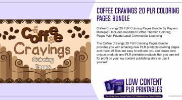 Coffee Cravings 20 PLR Coloring Pages Bundle