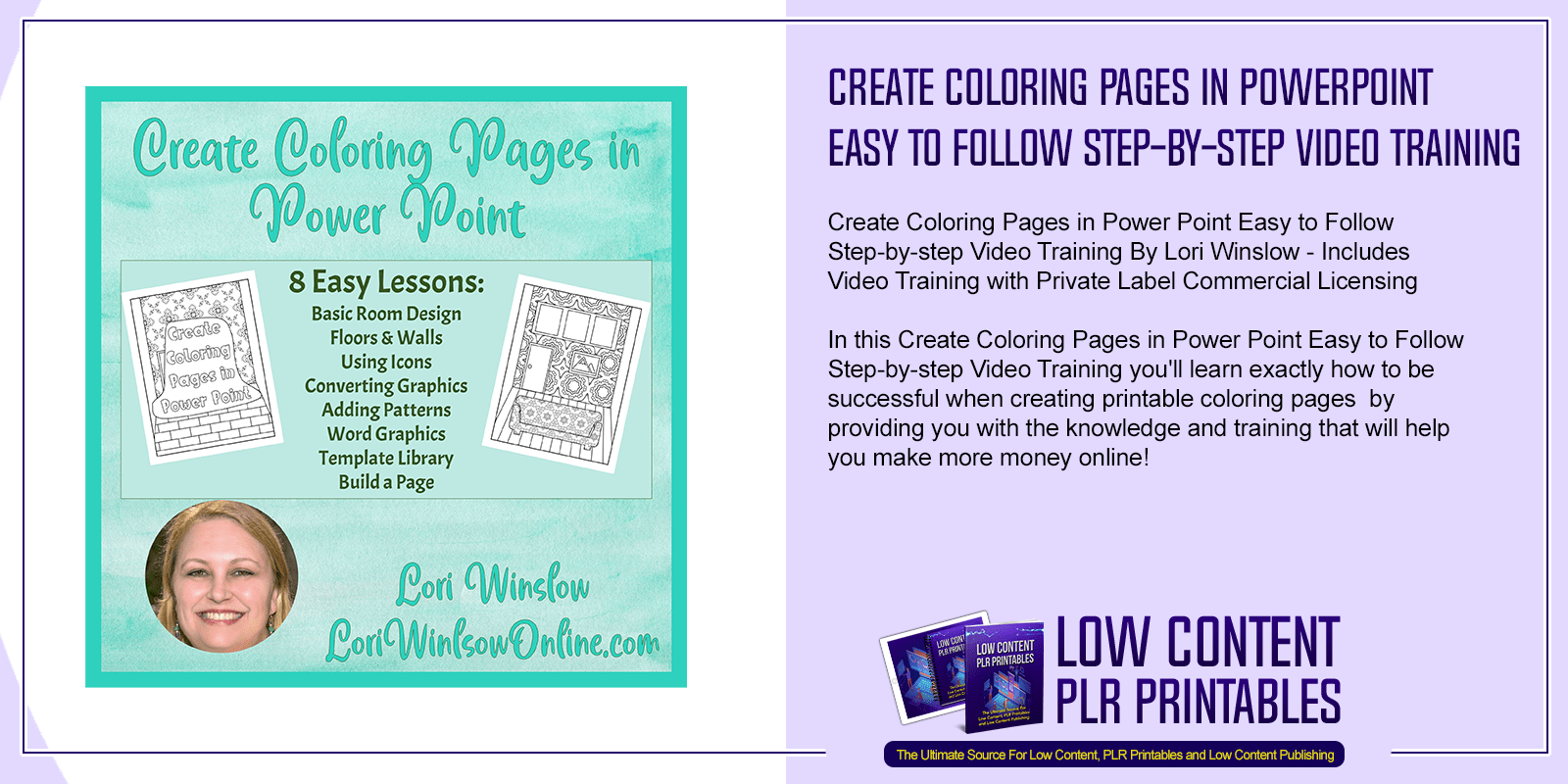 Create Coloring Pages in Power Point Easy to Follow Step by step Video Training