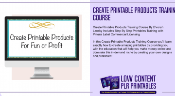 Create Printable Products Training Course