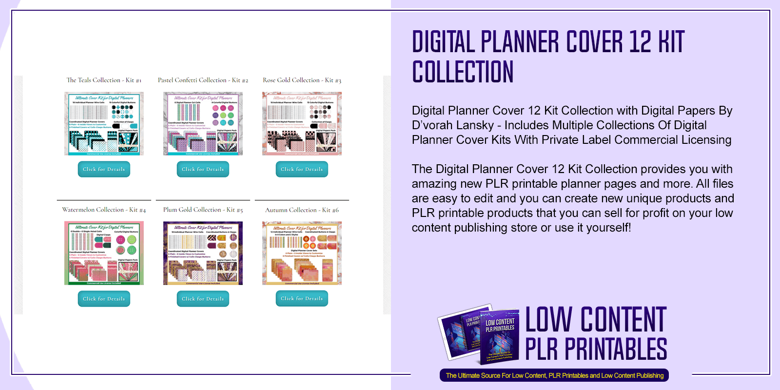 Digital Planner Cover 12 Kit Collection
