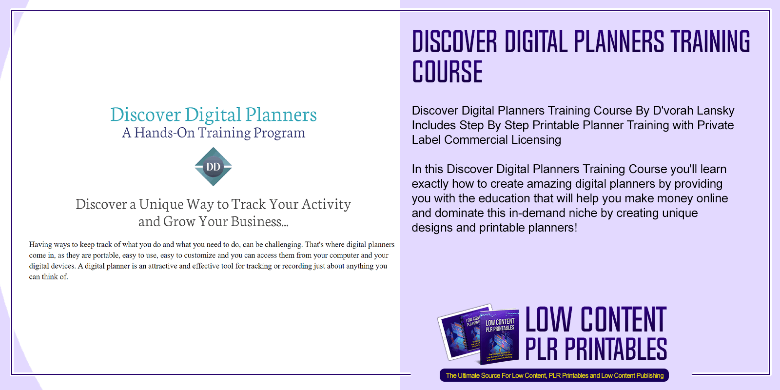Discover Digital Planners Training Course