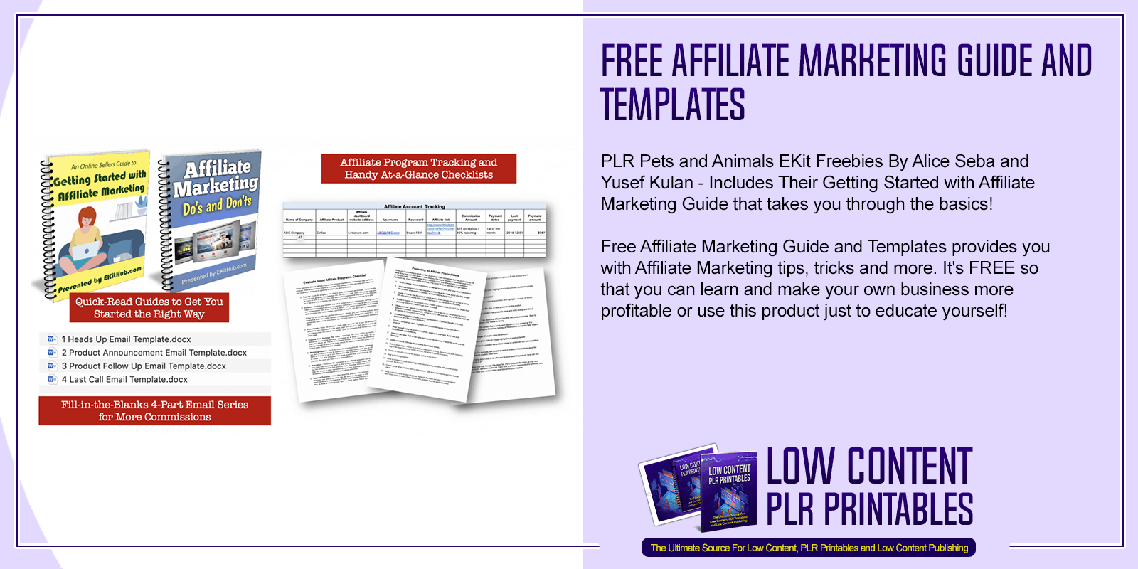 Free Affiliate Marketing Guide and Templates
