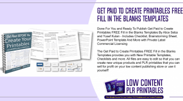 Get Paid to Create Printables FREE Fill in the Blanks Templates