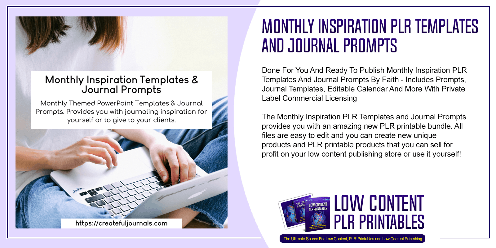 Monthly Inspiration PLR Templates and Journal Prompts