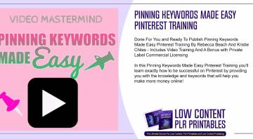 Pinning Keywords Made Easy Pinterest Training