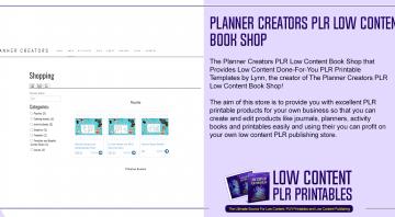 Planner Creators PLR Low Content Book Shop