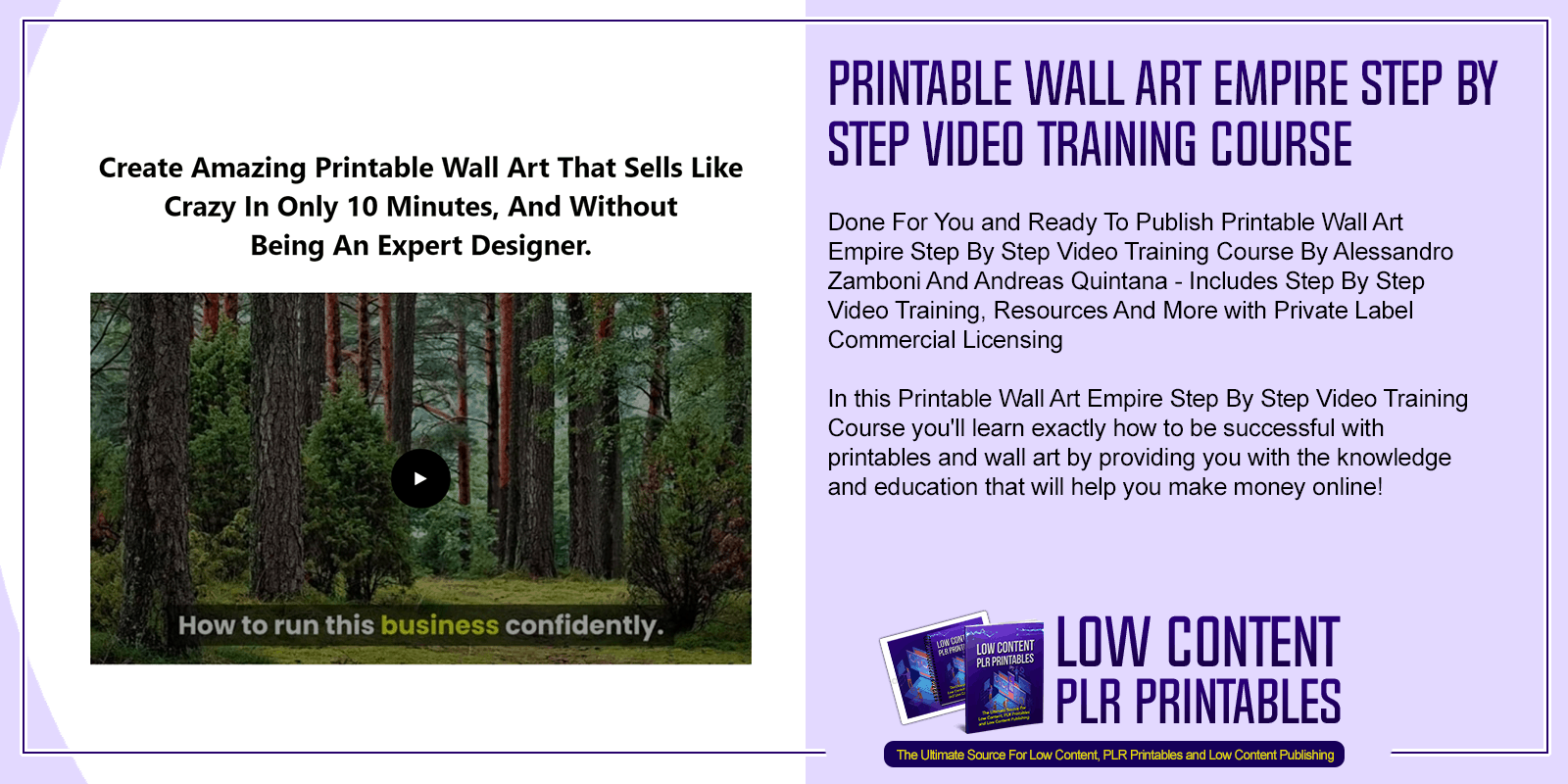 Printable Wall Art Empire Step By Step Video Training Course