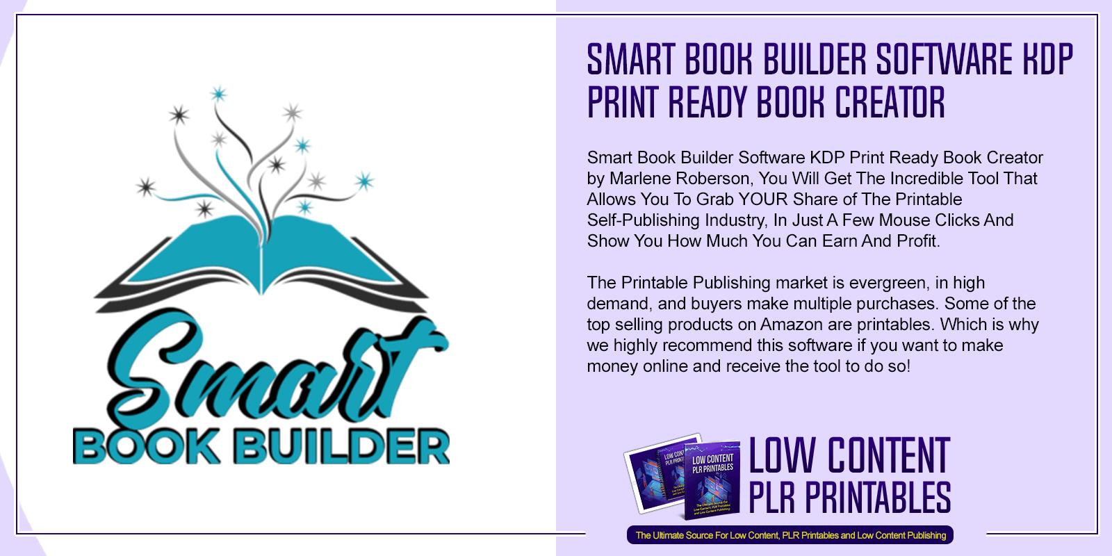 Smart Book Builder Software KDP Print Ready Book Creator