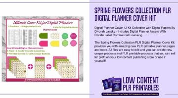 Spring Flowers Collection PLR Digital Planner Cover Kit