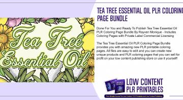 Tea Tree Essential Oil PLR Coloring Page Bundle