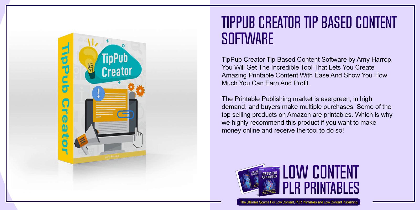 TipPub Creator Tip Based Content Software