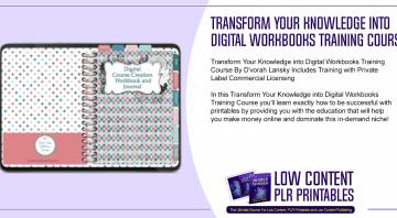 Transform Your Knowledge into Digital Workbooks Training Course