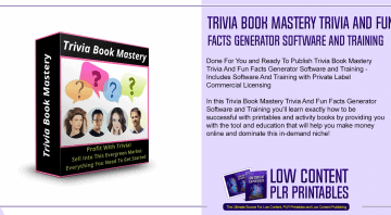 Trivia Book Mastery Trivia And Fun Facts Generator Software and Training