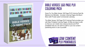 Bible Verses 168 Page PLR Coloring Pack