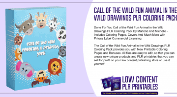 Call of the Wild Fun Animal in the Wild Drawings PLR Coloring Pack