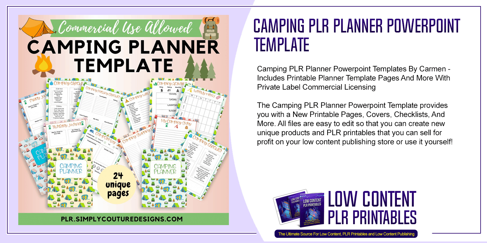 Camping PLR Planner Powerpoint Template