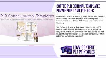 Coffee PLR Journal Templates PowerPoint and PDF Files