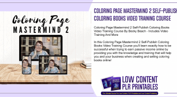 Coloring Page Mastermind 2 Self Publish Coloring Books Video Training Course